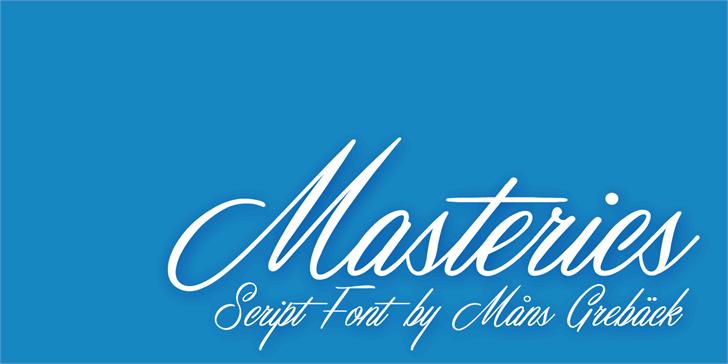 Masterics Personal Use font by Måns Grebäck