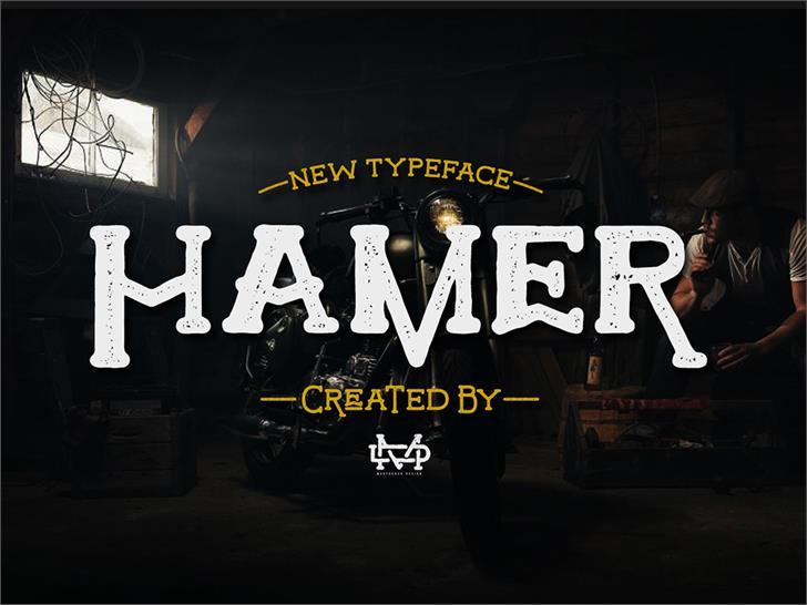 Hamer font by madeDeduk
