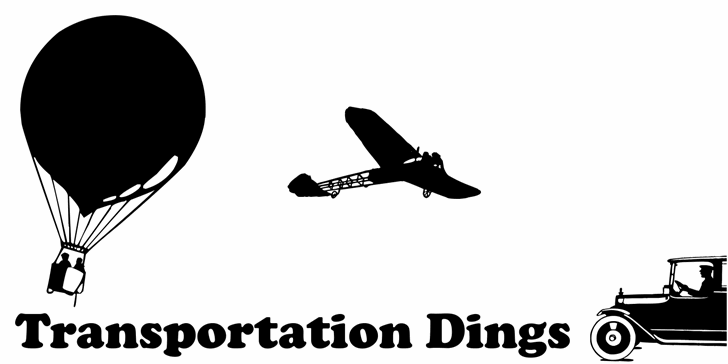 Transportation Dings font by Intellecta Design