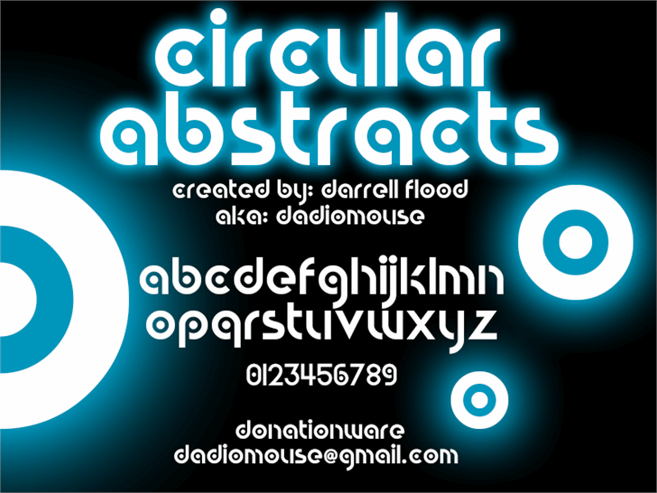 Circular Abstracts font by Darrell Flood