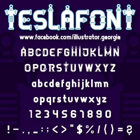 TESLAFONT by Illustrator Georgie Retzer