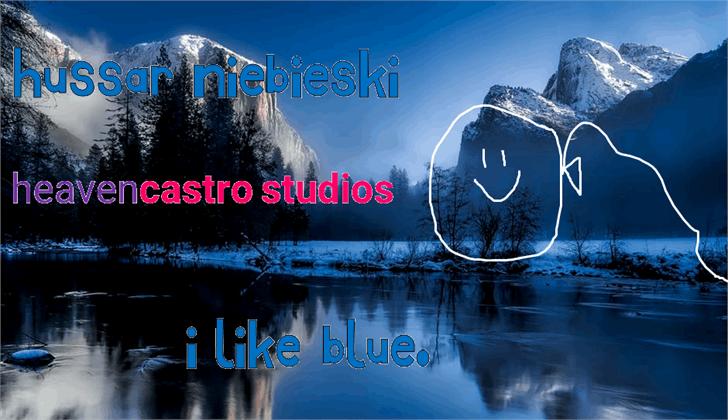 Hussar Niebieski font by heaven castro
