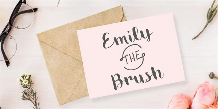 Emily The Brush Demo font by Monofonts