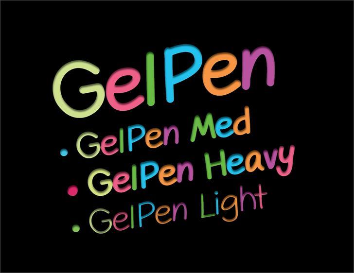 GelPen font by Shara Weber