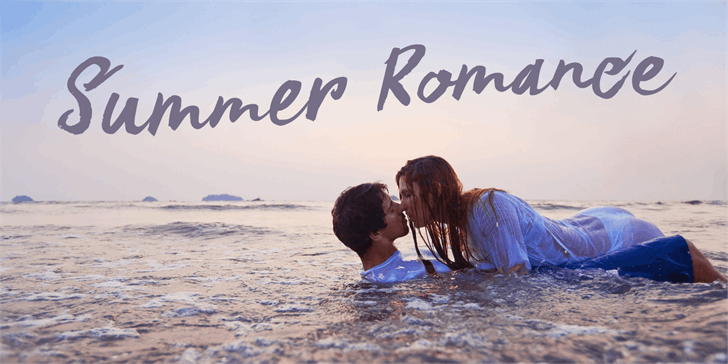 DK Summer Romance font by David Kerkhoff