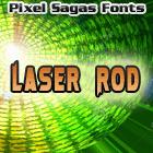 Laser Rod font by Pixel Sagas