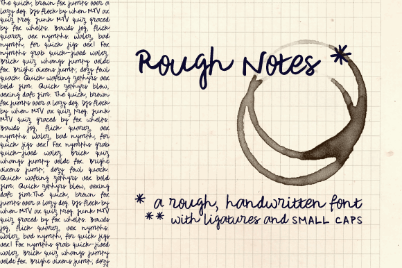 Rough Notes Sample font by justlikethistrain