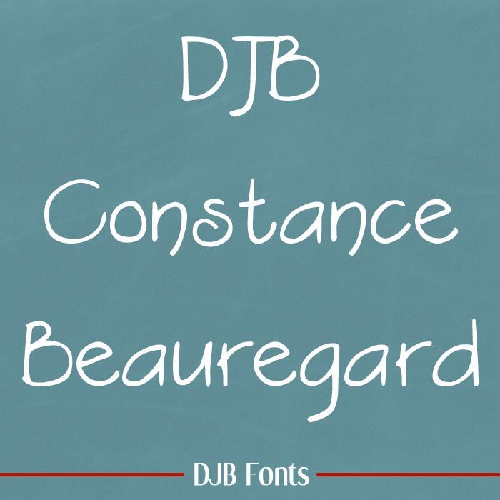 DJB Constance Beauregard font by Darcy Baldwin Fonts