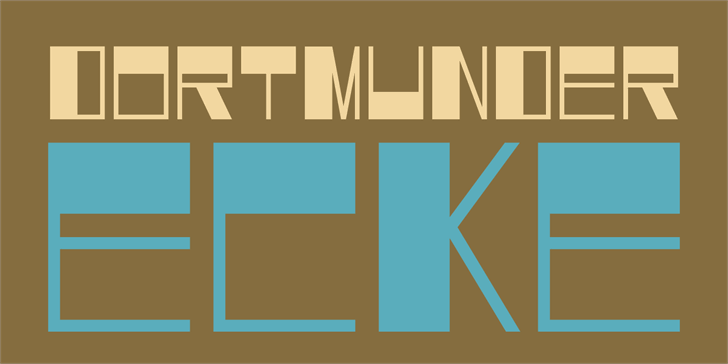 DK Dortmunder Ecke font by David Kerkhoff