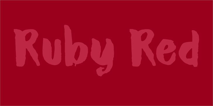 DK Ruby Red font by David Kerkhoff