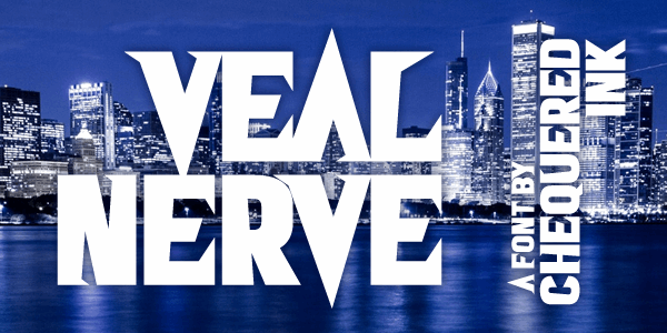 Veal Nerve font by Chequered Ink