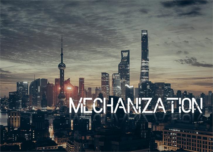 Mechanization font by Font Monger
