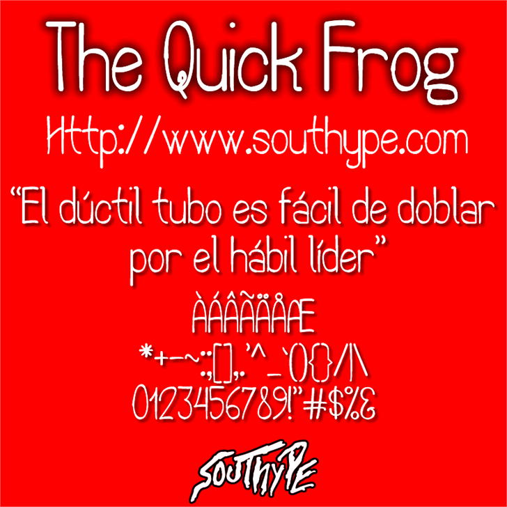 The Quick Frog St font by Southype