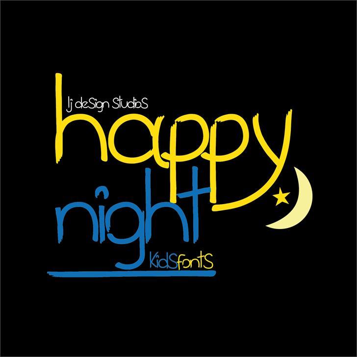 happy night font by LJ Design Studios