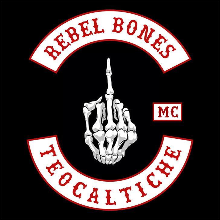 Rebel Bones bold font by Siempre leales cm