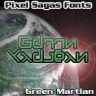 Green Martian font by Pixel Sagas