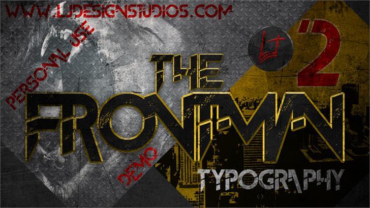 The FrontMan 2 demo font by LJ Design Studios