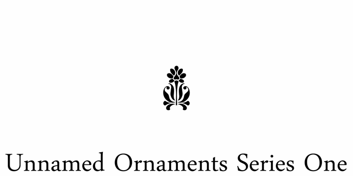 Unnamed Ornaments Series One font by Intellecta Design