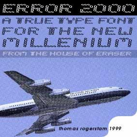 error 2000 font by House of Eraser