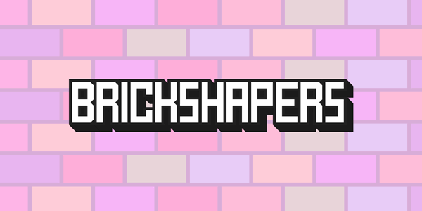 BrickShapers font by Chequered Ink
