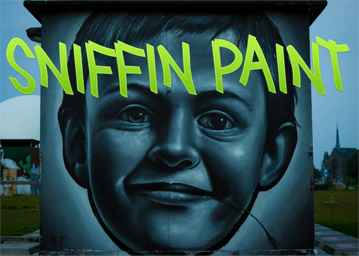 Sniffin Paint font by Font Monger