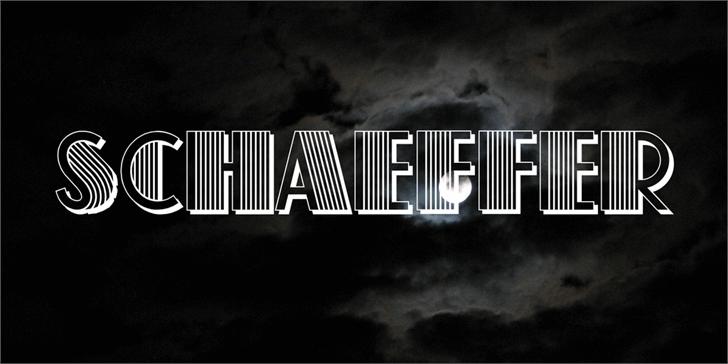 Schaeffer font by Vladimir Nikolic