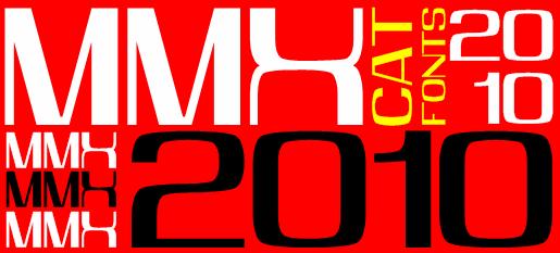 MMX2010 font by Peter Wiegel