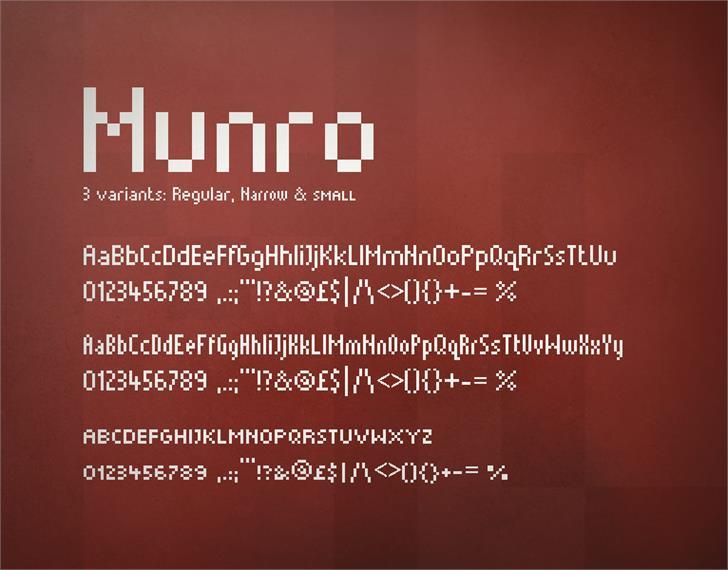 Munro font by Ten by Twenty