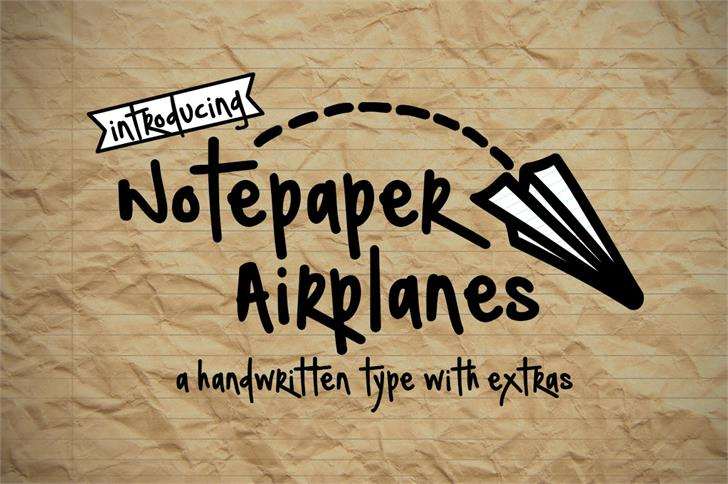 Notepaper Airplanes font by Brittney Murphy Design