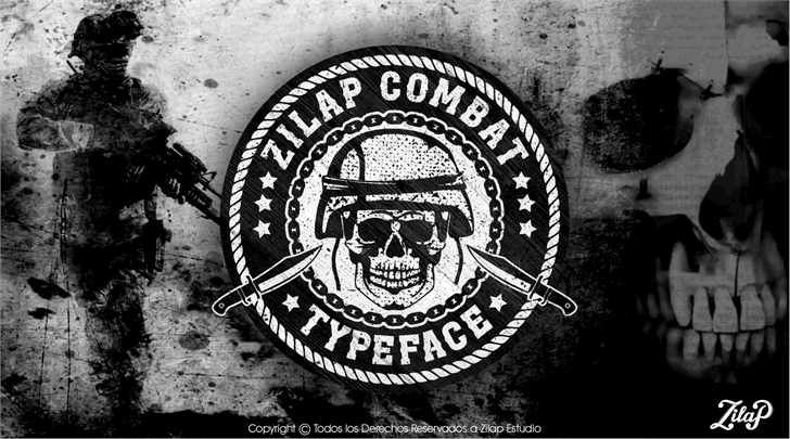 Zilap Combat font by ZILAP ESTUDIO - ZP