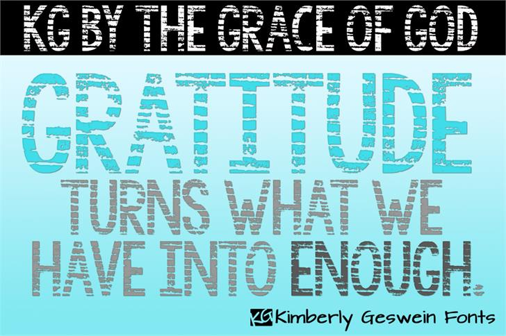 KG By the Grace of God font by Kimberly Geswein