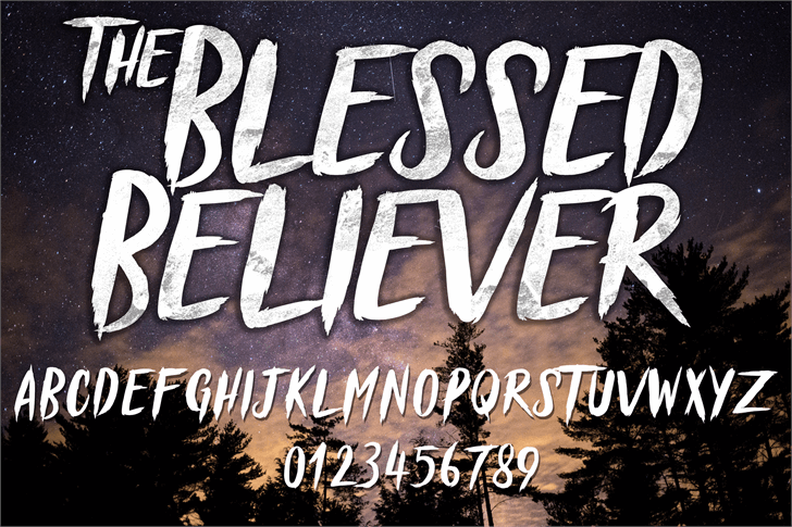 Blessed Believer font by knackpackstudio