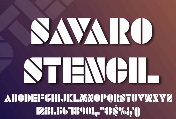 SAVARO STENCIL font by studiotypo
