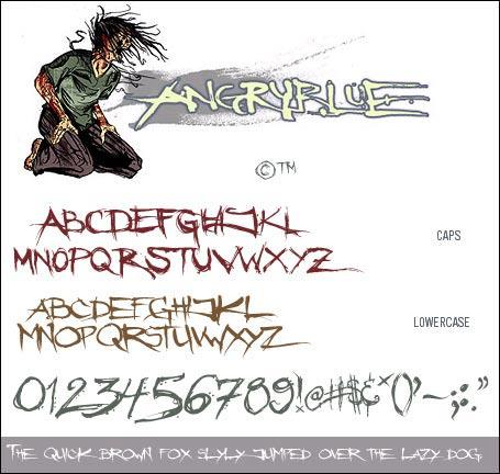 Angryblue font by Angryblue