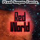 Red World font by Pixel Sagas