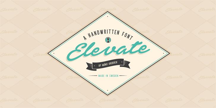 Elevate PERSONAL USE ONLY font by Måns Grebäck