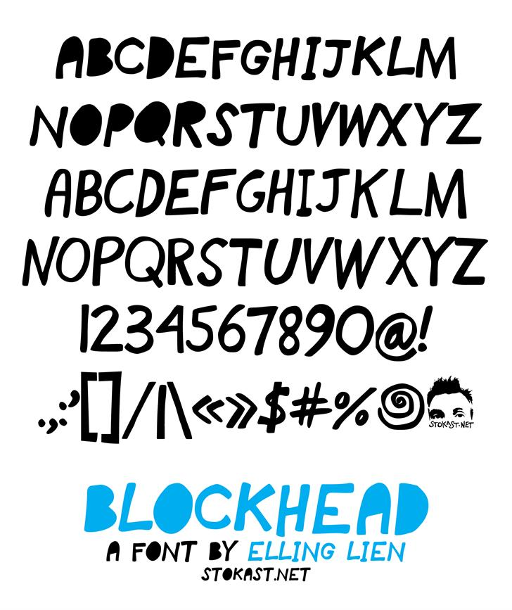 blockhead font by Elling Lien