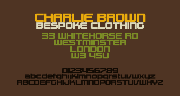 Charlie Brown M54 font by justme54s