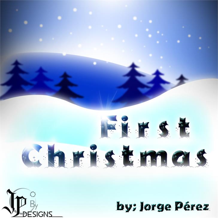 Firts Christmas font by LJ Design Studios