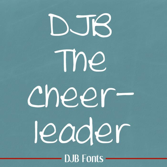 DJB THE CHEERLEADER font by Darcy Baldwin Fonts