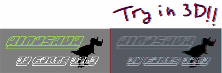 Rinosaur font by Fonts bomb