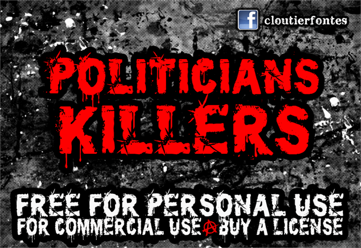 CF Politicians Killers font by CloutierFontes