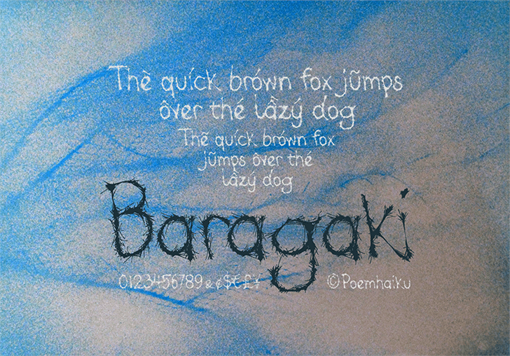 Baragaki Demo Mix font by Poemhaiku