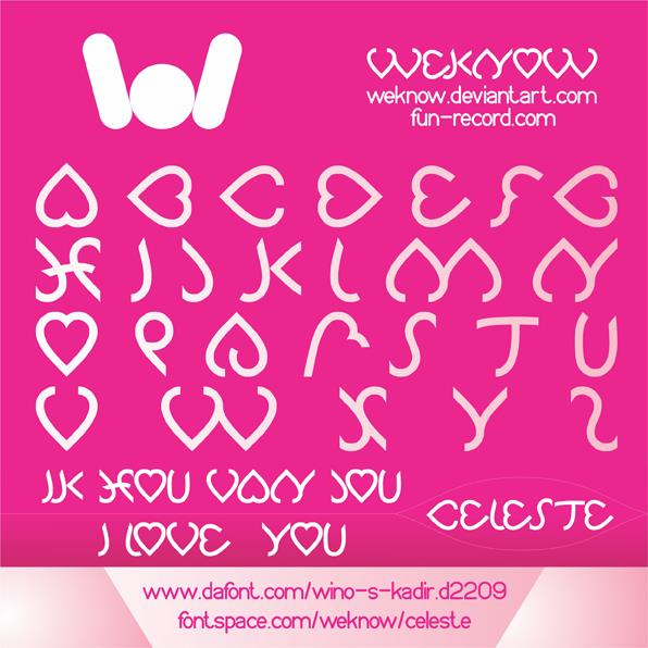 Celeste font by weknow