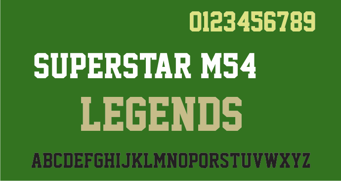 Superstar M54 font by justme54s