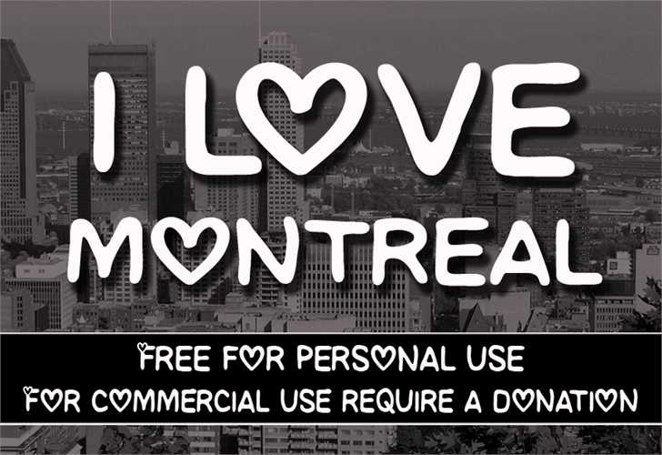 CF I love Montreal font by CloutierFontes
