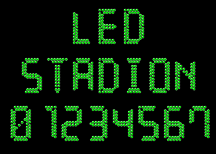 LED Stadion 7 font by Style-7