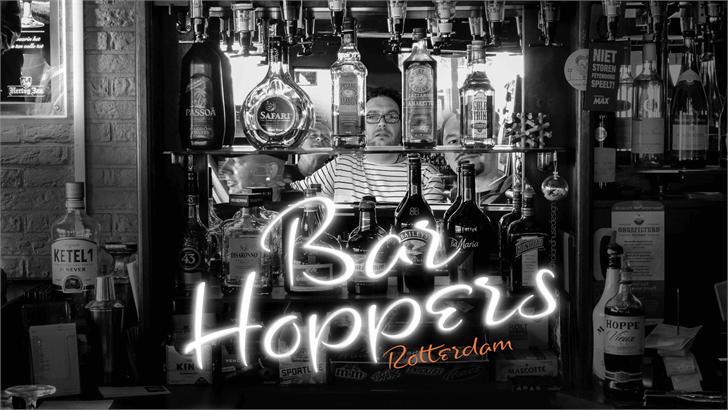 Bar Hoppers Demo font by Roland Huse Design