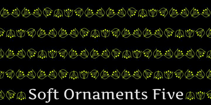 Soft Ornaments Five font by Intellecta Design
