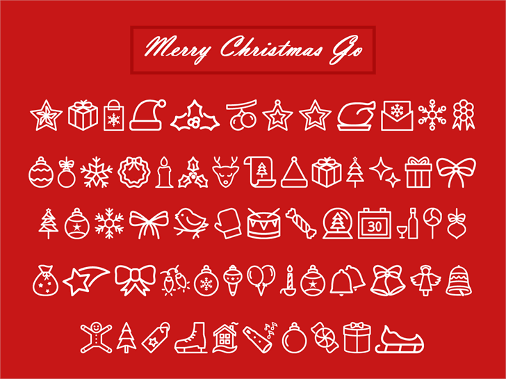 Merry Christmas Go font by Jamel E. Robin